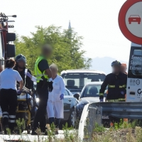 Grave accidente en la carretera de Montijo