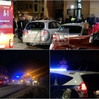 Falsa alarma, incendio y accidente en un intervalo de una hora (Badajoz)