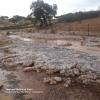Una importante tormenta deja unos 45 litros/m2 de lluvia y granizo en Valencia del Mombuey (Badajoz)