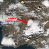 Una tormenta deja 45 litros/m2 de lluvia y granizo en Valencia del Mombuey (Badajoz)