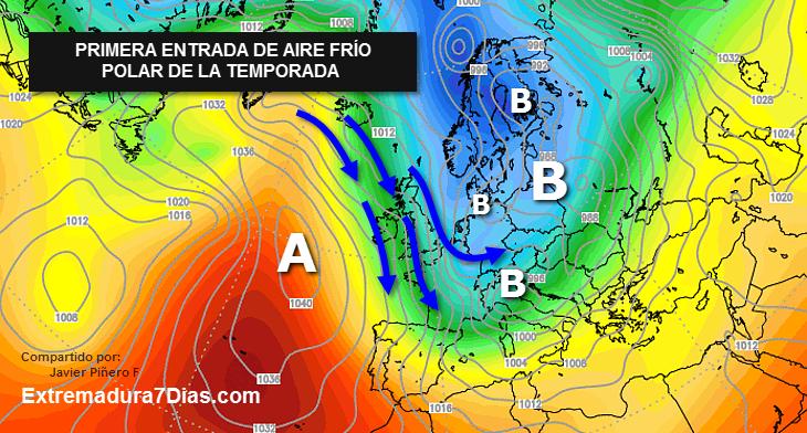 Una masa de aire polar afectará a España a partir de este fin de semana