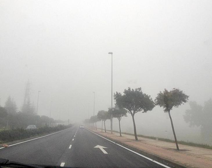 Problemas en los valles del Tajo y Guadiana debido a las nieblas