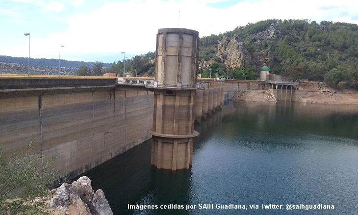 Ligera pérdida de agua en los embalses extremeños esta semana