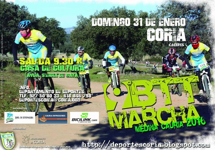 300 ciclistas participarán en la IX Marcha BTT de Coria