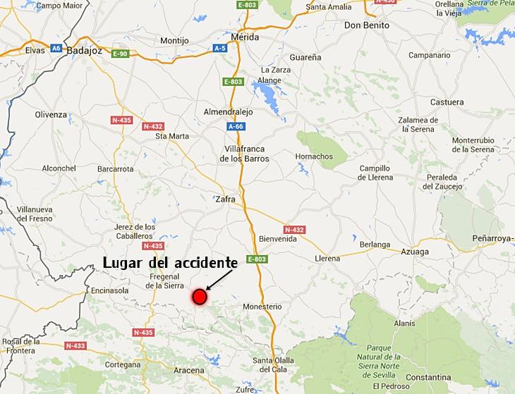 Muere un joven en un accidente al sur de la provincia pacense