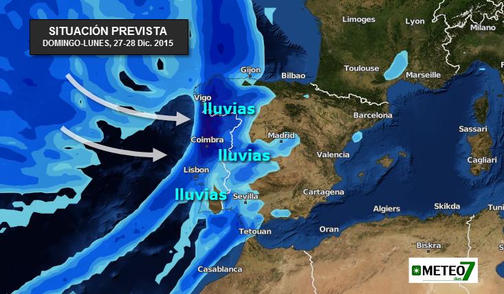 Las lluvias volverán a Extremadura a partir del próximo domingo