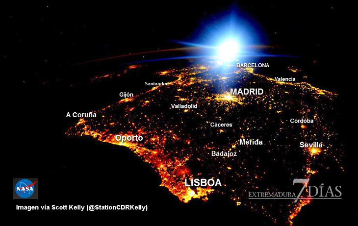 Un astronauta fotografia la Península Ibérica desde el espacio