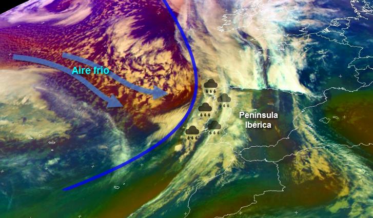 Lluvias y viento intenso este lunes en Extremadura por la entrada de un frente