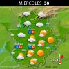 Previsión meteorológica en Extremadura. Días 29, 30 y 31 de diciembre