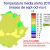 El otoño 2015 ha sido ligeramente cálido y seco en Extremadura