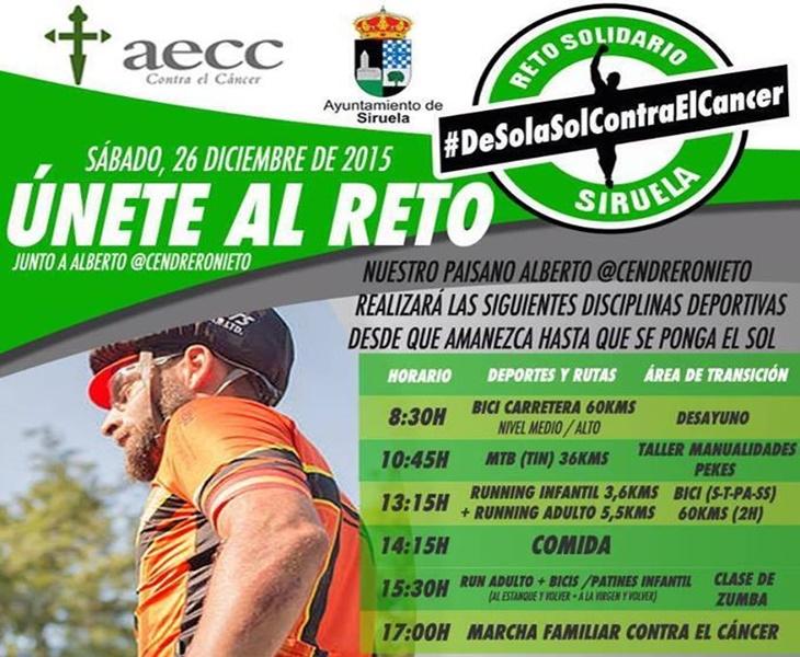 Rutas en bici, running y bike en Siruela para retar al cáncer