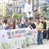 Imágenes de la manifestación contra la LOMCE en Badajoz