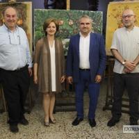 Imágenes de la visita de Fragoso a la Escuela de Artes y Oficios 'Adelardo Covarsí'