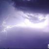 Badajoz amaneció bajo una tormenta eléctrica espectacular