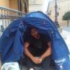 """Pedro Luengo abandona su acampada. """"Lucharé por otros medios"""""""