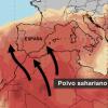 Polvo sahariano y temperaturas impropias a partir de este miércoles