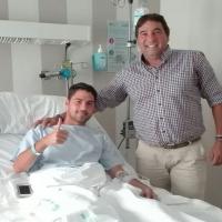 Nando González operado con éxito del menisco izquierdo
