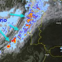 Primeras lluvias llegando a Portugal, que afectarán a Extremadura
