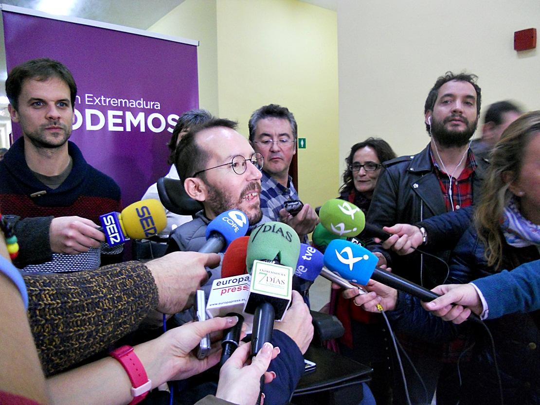 """Echenique: """"Es evidente que necesitamos unidad en Podemos"""""""