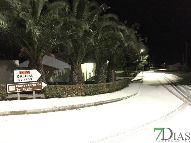 Vídeo de la nieve en el sur de Badajoz