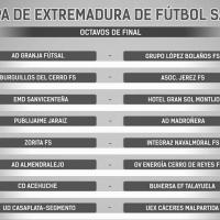 Ya se conocen los emparejamientos de la Copa de Extremadura de futsal