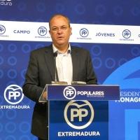 """Monago pide a Vara """"humildad"""" para escuchar las propuestas de la oposición"""
