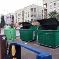 Reponen la zona de contenedores de la Cruzcampo