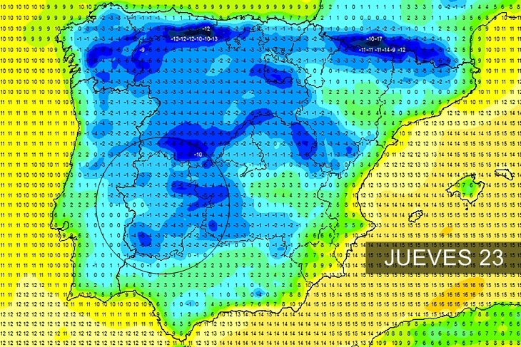 Extremadura amanecerá bajo cero el próximo jueves