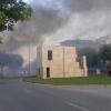 Cortada por un incendio la Ronda Norte de Badajoz