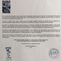 ETA anuncia su desarme