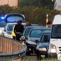 Accidente múltiple en la carretera de Gévora