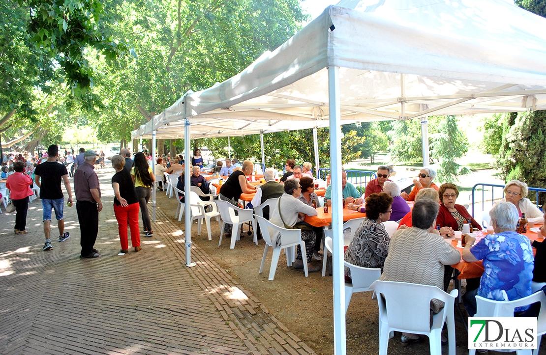 Jornada solidaria gastronómica de mayores en el parque de La Legión