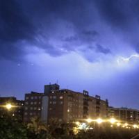 Más de 2.000 rayos tuvieron lugar este miércoles en Extremadura