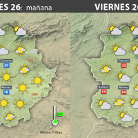 Previsión meteorológica en Extremadura. Días 26, 27 y 28 de mayo