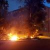 Un incendio en Las Moreras alcanza la avenida de Elvas