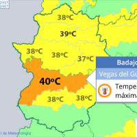 Extremadura sigue en aviso por calor este martes y miércoles, aunque con una ligera tregua