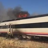 Accidente de tren en la línea Cáceres - Madrid