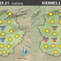 Previsión meteorológica en Extremadura. Días 21, 22 y 23 de julio