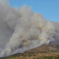 Gran incendio en la Sierra de Arroyo de San Serván