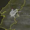 A esta hora, otra nube de humo se dirige a Extremadura desde Portugal