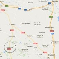 Fallece en un accidente al accidentarse e incendiarse el vehículo en Barcarrota (Badajoz)