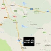 Un accidente deja tres heridos en las inmediaciones de Cáceres