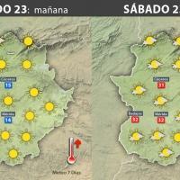 Previsión meteorológica en Extremadura. Días 23, 24 y 25 de septiembre