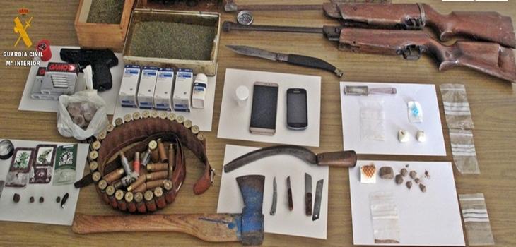 Desmantelan una vivienda dedicada al tráfico de drogas en Fregenal (Badajoz)