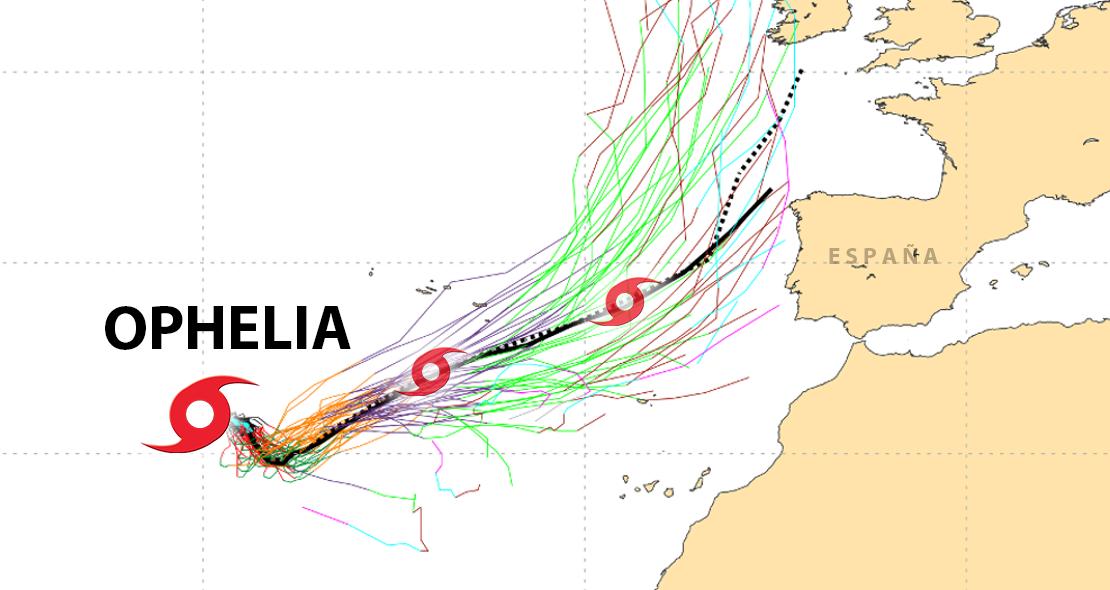 El huracán OPHELIA podría aproximarse a la península los próximos días