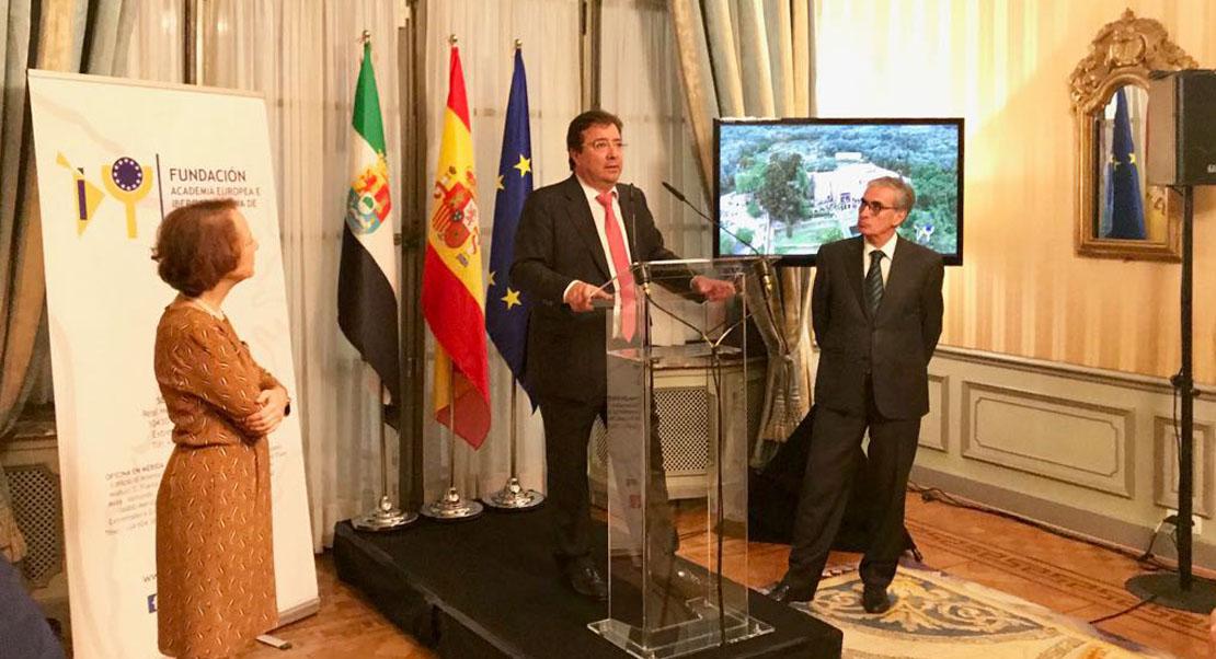 Vara ha presentado en Bruselas la Fundación Academia Europea e Iberoamericana de Yuste