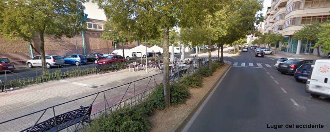 Dos atropellos en menos de una hora en una misma calle de Cáceres