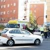 Accidente entre un camión de bomberos y un turismo en la autopista