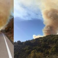 Incendio grave en Las Villuercas