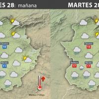 Previsión meteorológica en Extremadura. Días 28, 29 y 30 de noviembre
